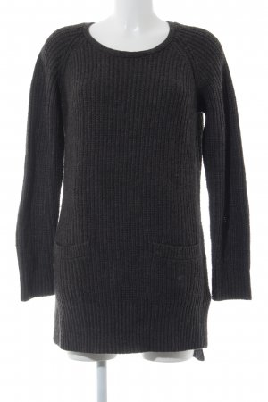 H&M Jersey largo gris oscuro-negro look casual