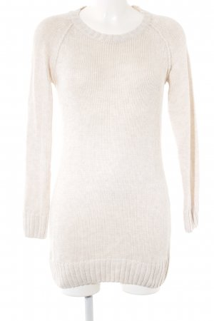 H&M Longpullover wollweiß Zopfmuster Casual-Look