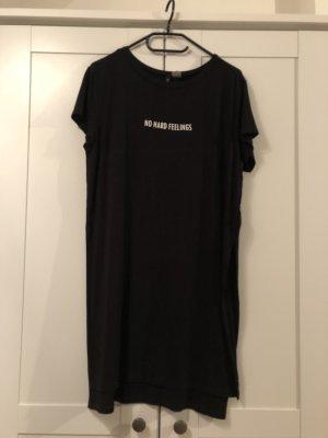 H&M Divided Camicia lunga nero-bianco