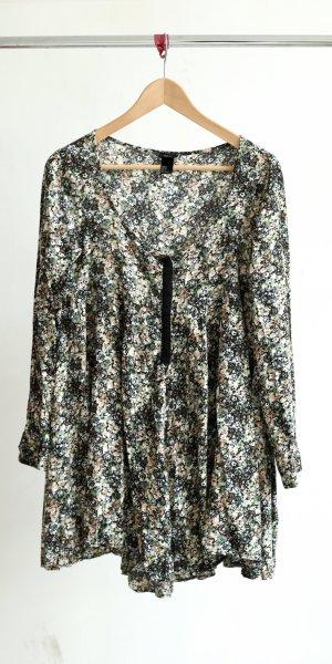 H&M Longshirt/Kleid - geblümt