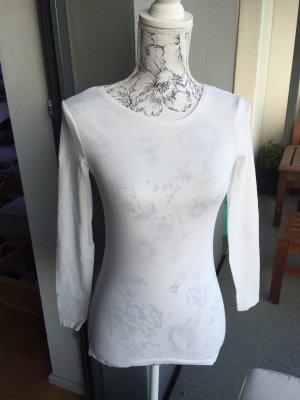 H&M Longsleeve Basic Shirt weiß Gr XS wie neu