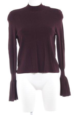 H&M Longsleeve braunrot extravaganter Stil