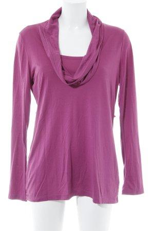 H&M Longsleeve violett Casual-Look