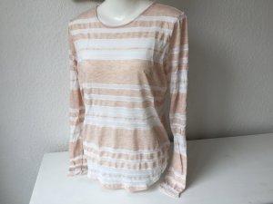 H&M Longsleeve weiß-rosa Gr. S