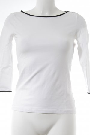 H&M Longsleeve white-black casual look