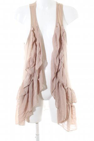 H&M Long Knitted Vest nude casual look