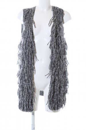 H&M Long Knitted Vest light grey flecked casual look