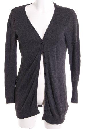 H&M Gilet long tricoté gris foncé style décontracté