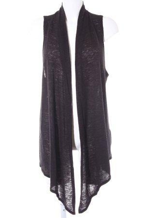 H&M Longstrickweste dunkelgrau schlichter Stil