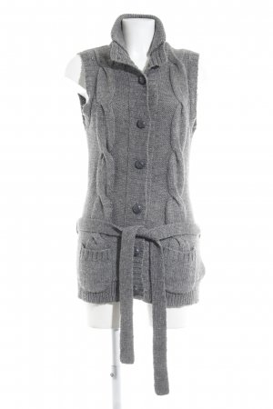 H&M Long Knitted Vest grey cable stitch casual look