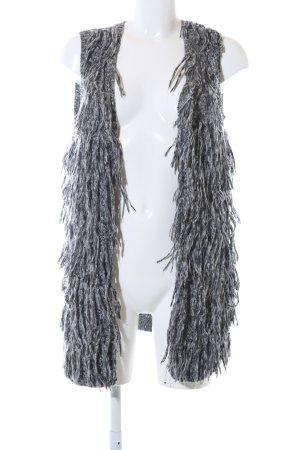 H&M Chaleco de punto largo blanco-negro moteado look casual