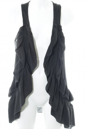 H&M Long Knitted Vest black casual look