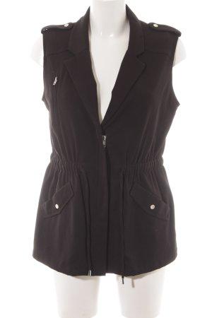 H&M Lang gebreid vest zwart simpele stijl