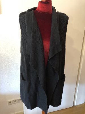 H&M Long Knitted Vest anthracite-dark grey