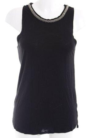 H&M Top lungo nero-argento elegante