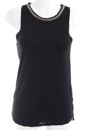 H&M Longtop schwarz-silberfarben Elegant