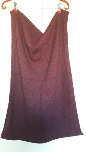 H&M Loop Strickschal Glattstrick brombeerrot rotviolett weinrot
