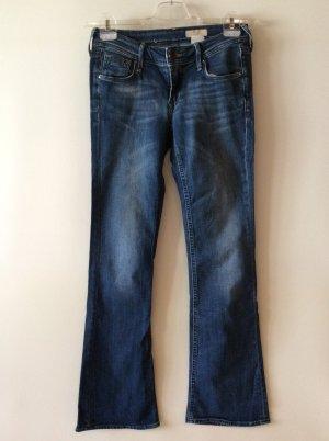 H&M Jeans a zampa d'elefante blu acciaio