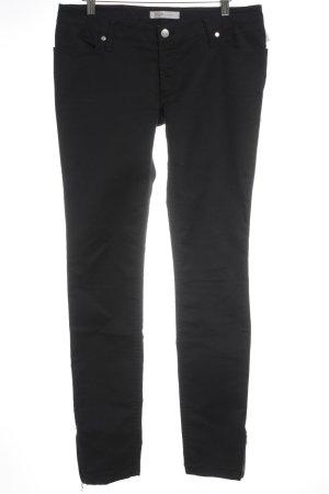 H&M M By Madonna Skinny Jeans schwarz Zierreißverschluss