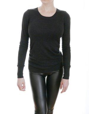 H&M Jersey de cuello redondo gris oscuro