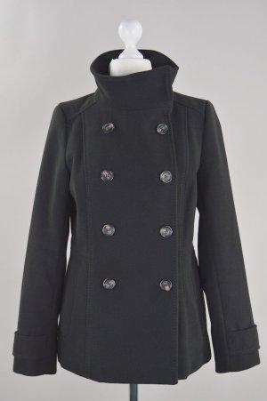 H&M Mantel doppelte Knopfreihe schwarz Größe 38