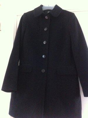 H&M Mantel, gerade geschnitten, Taschen, Farbe: Schwarz, Größe: 36