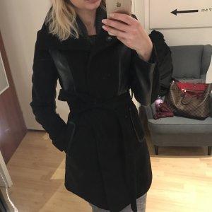 H&M Mantel in Schwarz Größe 34