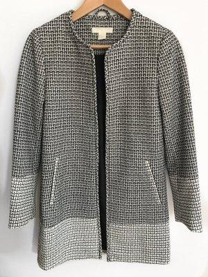 H&M Mantel in schwarz/weiß