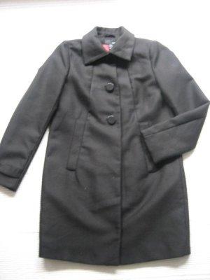 H&M mantel schwarz fruehling 36 s vintage