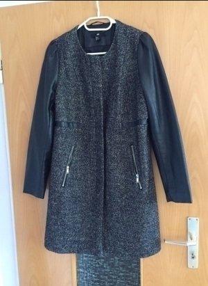 H&M Mantel schwarz grau gr. 42 Blogger