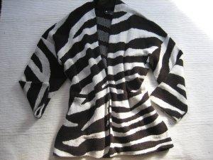 H&M mantel strickmantel zebra neuwertig oversize gr. s 36 /m