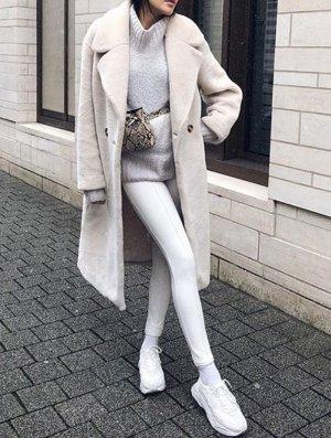 H&M Abrigo de piel sintética multicolor