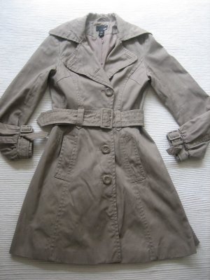 H&M mantel trench beige nude camel xs 34