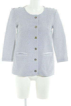 H&M Giacca alla marinara bianco-blu scuro strisce orizzontali stile casual