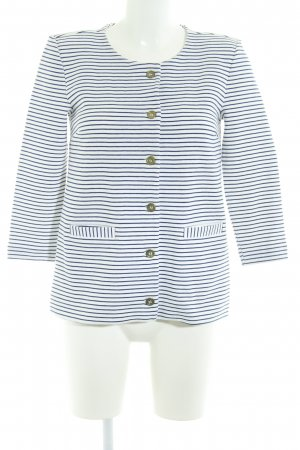 H&M Chaqueta estilo naval blanco-azul oscuro rayas horizontales look casual
