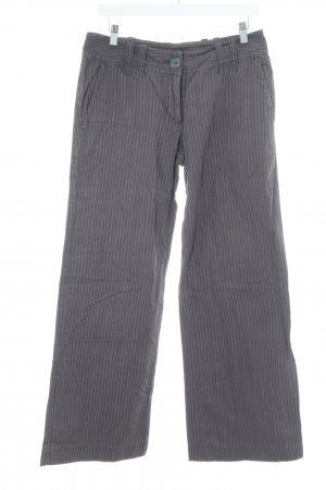H&M Marlene Trousers light grey striped pattern casual look