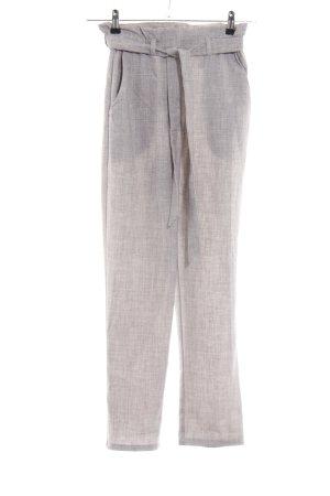 H&M Pantalone Marlene grigio chiaro puntinato stile professionale