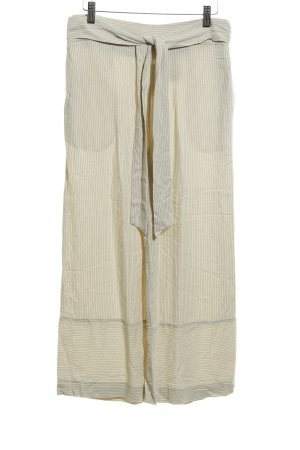 H&M Marlene Trousers pale yellow pinstripe