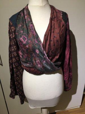 Maison Martin Margiela for H&M Blusa tipo kimono violeta amarronado
