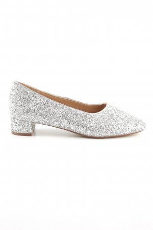 H&M Mary Jane Pumps silberfarben extravaganter Stil
