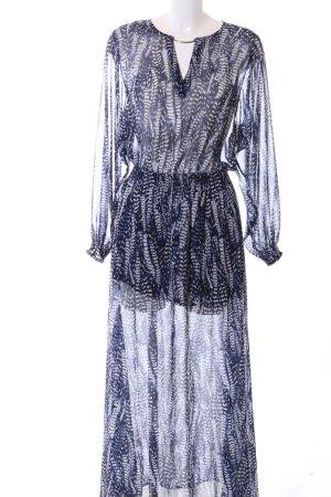 H&M Maxikleid blau abstraktes Muster Casual-Look