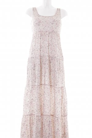 H&M Maxikleid creme-rosa florales Muster Casual-Look