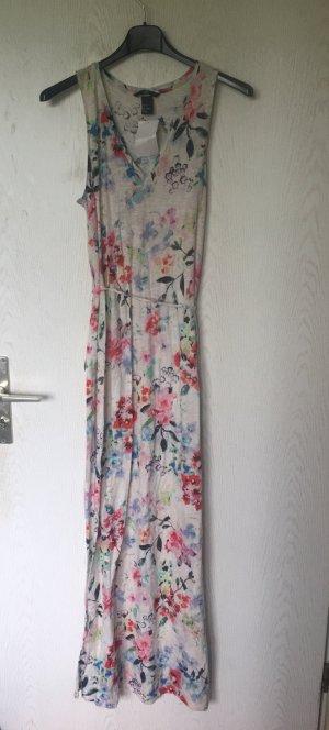 H&M maxikleid geblümtes Sommerkleid floral Blumenmuster XS 34 neu mit Etikett