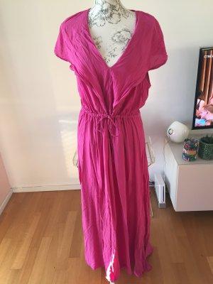 H&M Robe longue magenta-rouge framboise