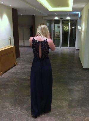 H&M Maxikleid mit tiefem Rückenausschnitt | dunkelblau | Gr. 38