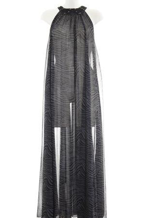 H&M Robe longue noir-gris motif animal imprimé animal
