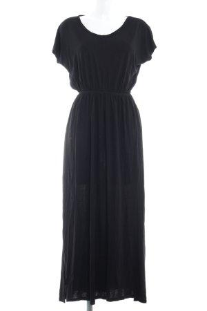 H&M Maxikleid schwarz klassischer Stil