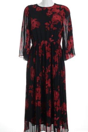 H&M Maxi Dress black-red floral pattern romantic style