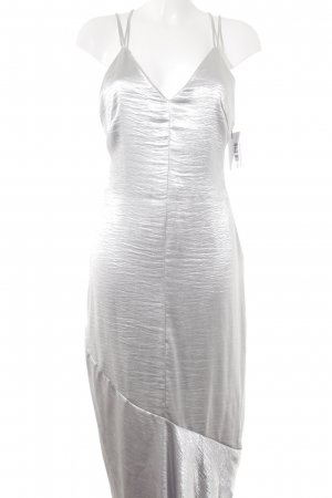 H&M Maxi Dress silver-colored wet-look