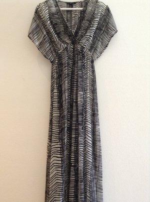 H&M Robe longue noir-argenté
